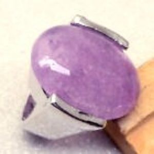LARGE NATURAL AMETHYST GEMSTONE RING